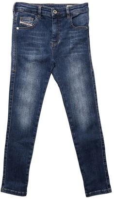 Diesel High Waist Stretch Cotton Denim Jeans