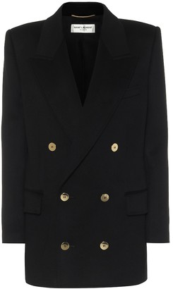 Saint Laurent Double-breasted wool and cashmere blazer