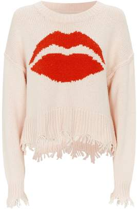 Wildfox Couture Kiss Print Cotton Sweater
