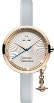 Vivienne Westwood Bow Women's Quartz Watch with Silver Dial Analogue Display and Blue Leather Strap VV139RSBL