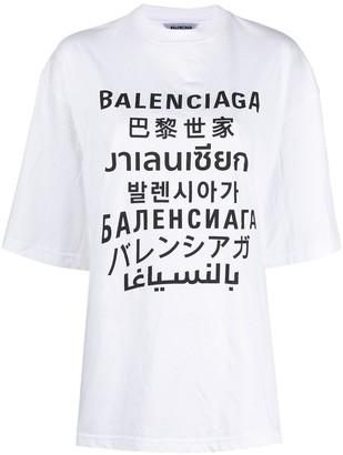Balenciaga Languages XL T-shirt