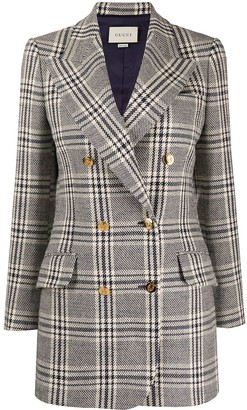 Gucci Checked Double-Breasted Blazer
