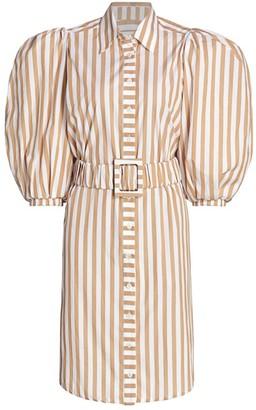 Johanna Ortiz Power Reflection Mini Belted Shirtdress