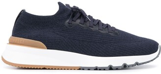 Brunello Cucinelli Knitted Low-Top Sneakers