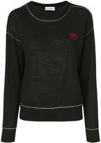 Sonia Rykiel lips logo sweater - women - Wool - S