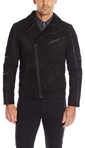 Calvin Klein Men's Slim Fit Suede Moto Jacket