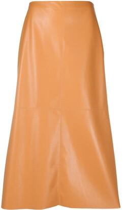 Nanushka Zayra vegan leather midi skirt