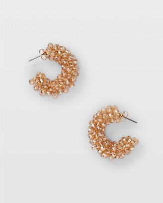 Club Monaco Mixed Bead Hoop Earrings