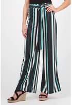 Select Fashion Fashion Womens Green Crepe Stripe Palazzo Pant - size 8