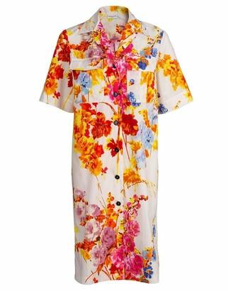 Dries Van Noten Dew Floral Print Shirtdress