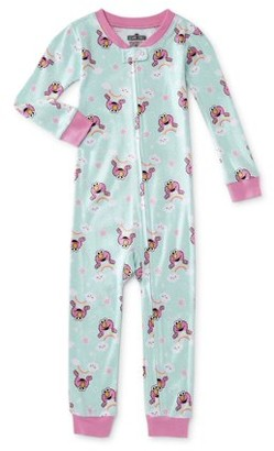 Sesame Street Elmo Baby Girl & Toddler Girl 1-Piece Snug Fit Cotton Footless Pajamas (12M-4T)