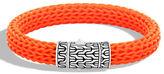 John Hardy Men's Classic Chain Rubber Push-Clasp Bracelet