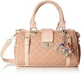 MG Collection Karasi Diamond Quilted Bowling Shoulder Bag