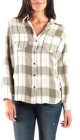Olive Green Hannah Button Down Plaid Shirt KUT FROM THE KLOTH