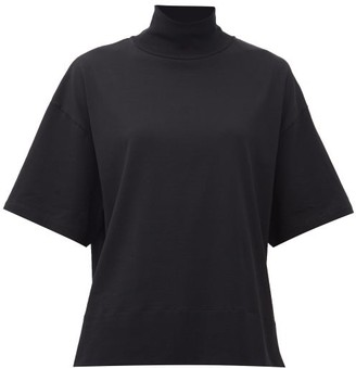 Acne Studios Mirka High-neck Jersey T-shirt - Womens - Black