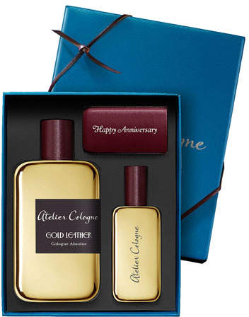 Atelier Cologne Gold Leather Cologne Absolue, 200 mL with Personalized Travel Spray, 1.0 oz./ 30 mL