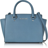 Michael Kors Saffiano Leather Selma Medium T/Zip Satchel