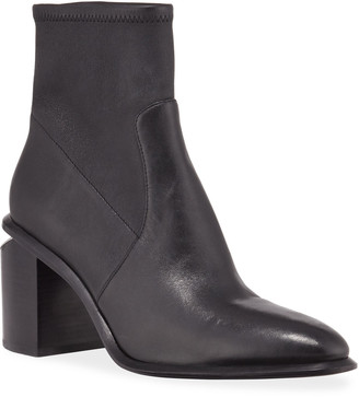 Alexander Wang Anna Leather Block-Heel Stretch Booties