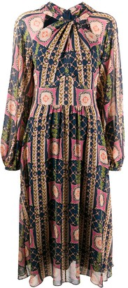 Temperley London Etoile-print silk dress