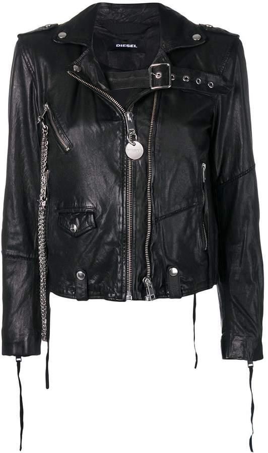 0edaa5753 washed biker jacket
