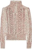 Isabel Marant Easley Mélange Cable-knit Wool-blend Cardigan - Ecru