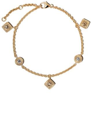 De Beers 18kt yellow gold Talisman diamond charm bracelet