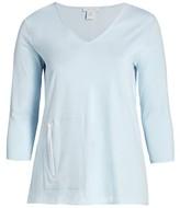 Thumbnail for your product : Joan Vass, Plus Size V-Neck Zip Pocket Tunic
