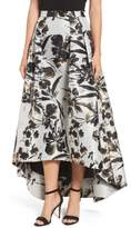 Eliza J Metallic Floral High/Low Skirt