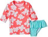 Carter's Girls 4-6x Floral Rashguard Swimsuit Set