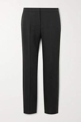 Alexander McQueen Tuxedo Grain De Poudre Wool-blend Tapered Pants - Black