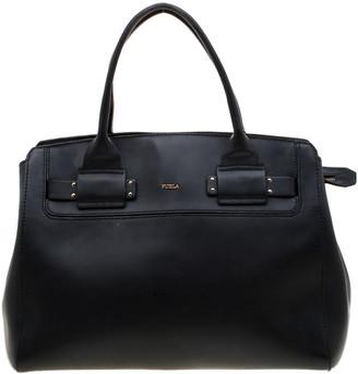 Furla Black Leather Linda Top Handle Bag