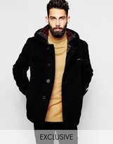 Gloverall Cropped Duffle Coat With Buttons Exclusive - Black