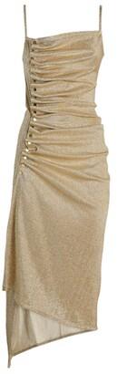 Paco Rabanne Lurex Asymmetric Midi Dress