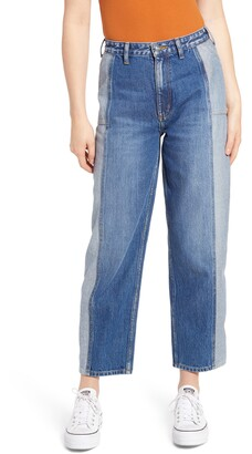 Lee Two-Tone Seamed Stovepipe Jeans