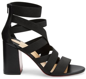 Christian Louboutin Gladia Pop Strappy Block-Heel Sandals