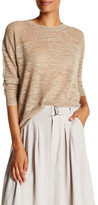 Brochu Walker Parke Linen Blend Slub Knit Sweater