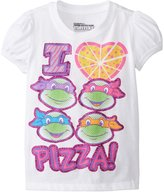 Nickelodeon Teenage Mutant Ninja Turtles Little Girls' I Heart Pizza Girls T-Shirt