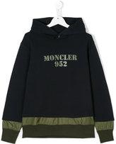 Moncler teen printed hoodie