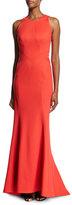 Zac Posen Bandage Jersey Sleeveless Gown, Coral