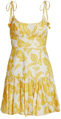 Zimmermann Bells Fit & Flare Mini Dress