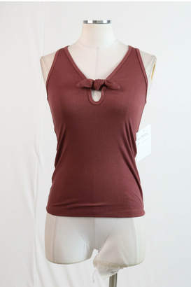 Hashttag Knotted bow front ribbed tank