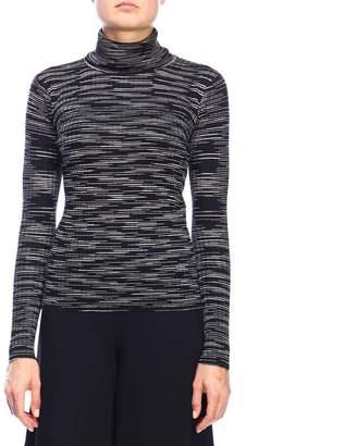 M Missoni Sweater Turtleneck Sweater In Ribbed Fabric