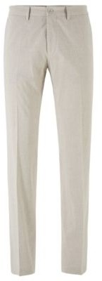 HUGO BOSS Extra Slim Fit Pants In Stretch Cotton - Light Beige