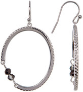 Cole Haan Textured Beaded Chain Oval Drop Earrings