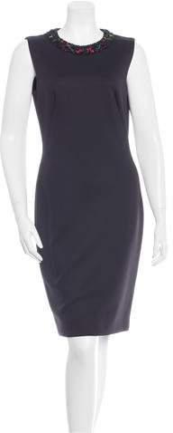 Alexander McQueen Embellished Midi Dress w/ Tags