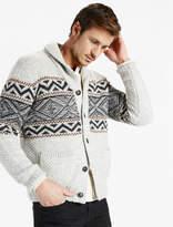 Lucky Brand Sherpa Lined Shawl Collar Cardigan