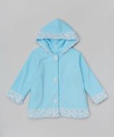 Paperdoll Blue Fleece Hooded Coat - Toddler & Girls
