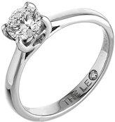Leo Diamond platinum 1.00ct I-SI2 solitaire ring
