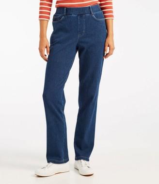 L.L. Bean Women's Perfect Fit Pants, Five-Pocket Slim Denim
