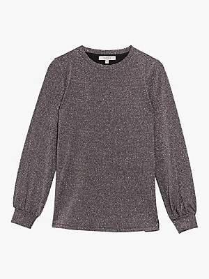 Oasis Sequin Knit Jumper, Purple